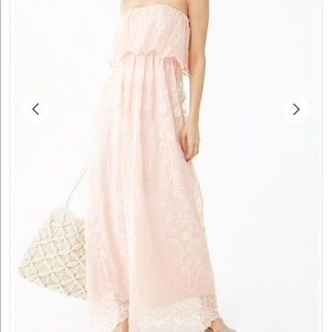 Forever21 embroidered baby pink dress